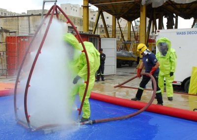 US_Navy_101117-N-3970R-516_A_member_of_the_Bulgarian_Navy_participates_in_a_decontamination_procedures_and_equipment_demonstration